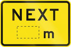 Next Meters in Australia - stock illustration