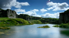 Timelapse, Foggintor Quarry, Dartmoor National Park - stock footage