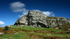 Timelapse, Haytor Rocks, Dartmoor National Park Stock Footage