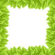 plant frame on a white background - stock illustration