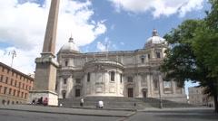 Santa Maria Maggiore church Stock Footage