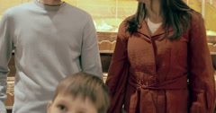 Happy Family Shopping - stock footage