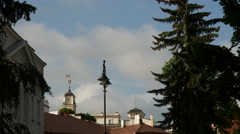 Old town Vilnius Lithuania Stock Footage