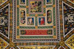 Piccolomini Library in Siena Cathedral - stock photo