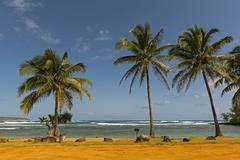 Stock Photo of Anahola Bay Kauai Hawaii USA