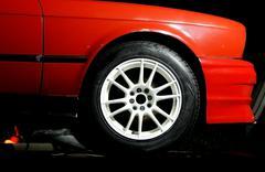 Custom wheel for sport car Stock Photos