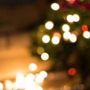 Abstract light celebration background with defocused lights Kuvituskuvat