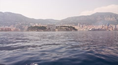 Monaco coast from a boat Stock Footage