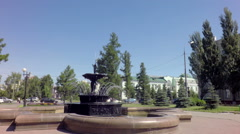 Fountain in Park zone near Tarskie Gate Stock Footage