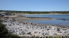 Port Eynon The Gower Peninsula Wales uk near Three Cliffs Bay Stock Footage