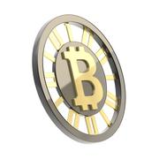 Bitcoin currency symbol coin isolated Kuvituskuvat