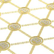 Bitcoin peer-to-peer network - stock photo