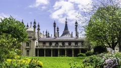 Timelapse of the Brighton Royal pavillon, England Stock Footage