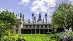 Timelapse of the Brighton Royal pavillon, England - stock footage