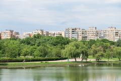 Stock Photo of Bucharest Communist Apartment Blocks Skyline