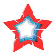 Abstract segmented star isolated Stock Photos