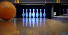 4K - Bowling Alley - stock footage