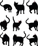 Cat silhouette Stock Illustration