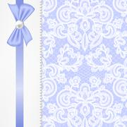 Stock Illustration of pearl frame on lace background