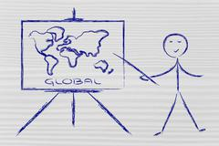 Stock Illustration of learn or decide how to go global
