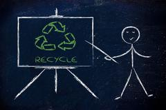 Learn about recycling Stock Illustration