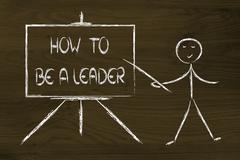 how to be the best and the leader - stock illustration