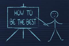How to be the best and the leader Stock Illustration