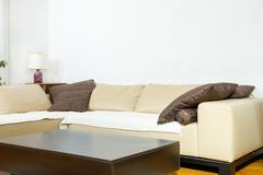 Living room in modern designed style - stock photo
