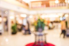 Blur image of  hotel reception with bokeh on day time - stock photo