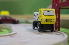 toy traffic train playground children child play concept - stock photo