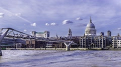 Timelapse of the Millennium bridge in London Stock Footage