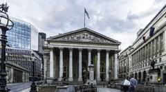 Time lapse of the Royal exchange, City of London Stock Footage