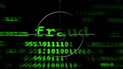 Web fraud on radar - stock footage
