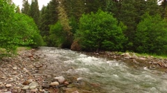 Country River in the Mountains Stock Footage