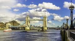 Timelapse of Tower bridge in London - stock footage