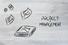Time and project management for the global business Stock Illustration