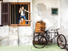 Street Art Mural in Georgetown, Penang, Malaysia - stock photo