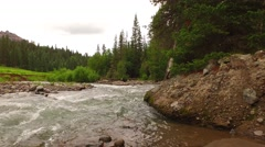 Country River in the Mountains - stock footage