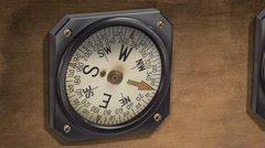 Vintage compass - steady bearing Stock Footage