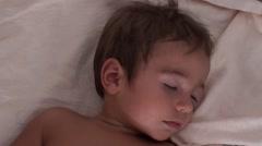 Sweet child asleep 2 - stock footage