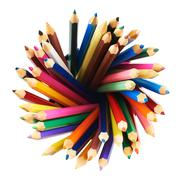 Stock Photo of Round twirl of pencils