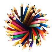 Round twirl of pencils - stock photo