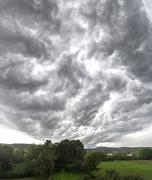 Storm clouds in StVeit Berndorf Lower Austria Austria Europe - stock photo