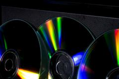 cd and their reflex - stock photo