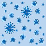 Floral blue cornflowers nature abstract background - stock illustration