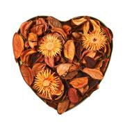 Heart filled with medley potpourri Stock Photos