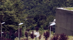 The movement of the cable cars 4. Rosa Khutor Plateau. Stock Footage