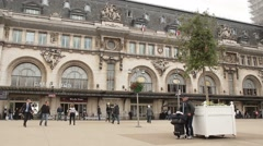 Busy Paris Train Station Gare de Lyon Stock Footage