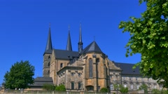 St. Michael's Monastery on the Michelsberg, Bamberg, Upper Franconia, Bavaria Stock Footage