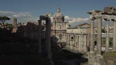Roman forum, timelapse Stock Footage
